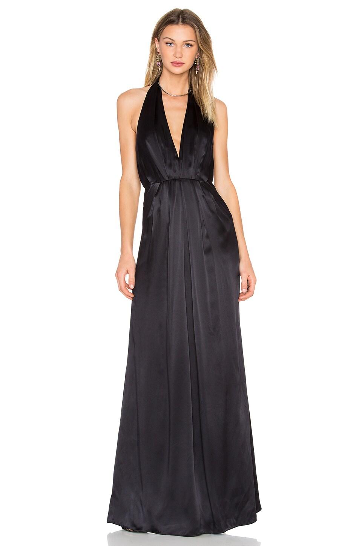 JILL JILL STUART Plunge Halter Gown in Black