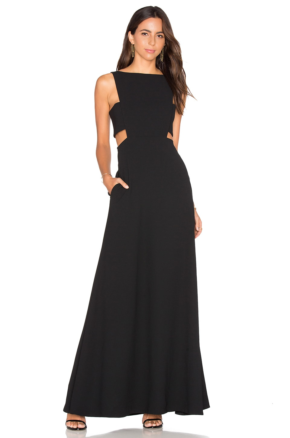 JILL JILL STUART Cutout Gown in Black