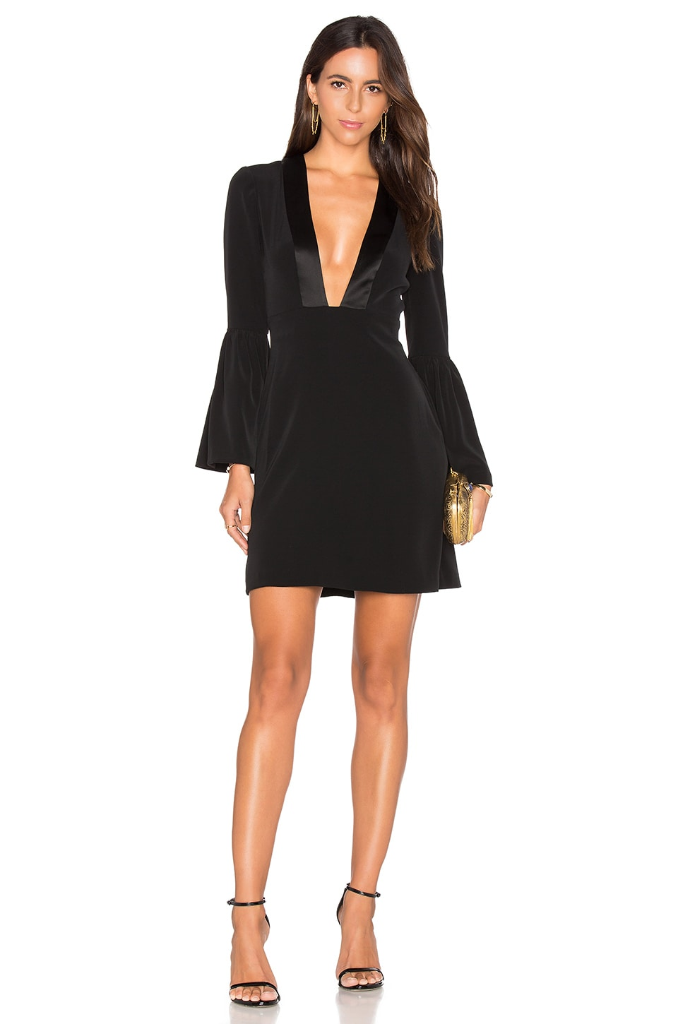 Plunging V Neck Mini Dress by JILL JILL STUART