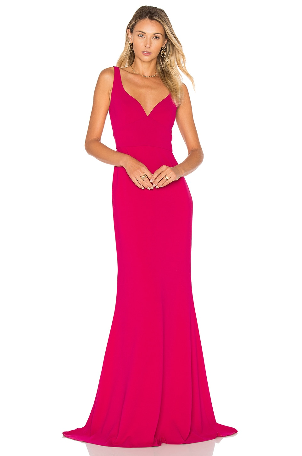JILL JILL STUART Sleeveless Gown in Wild Rose