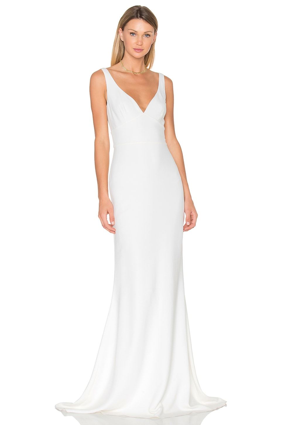 JILL JILL STUART Sleeveless Gown in Off White