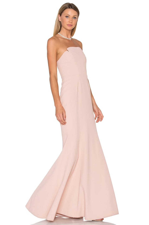 JILL JILL STUART Strapless Gown in Rosy Nude