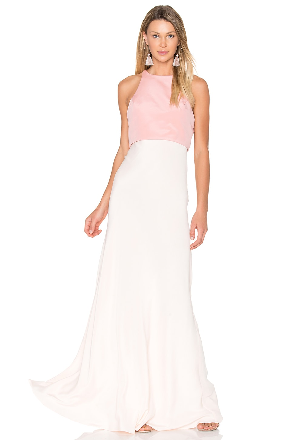 JILL JILL STUART Two Tone Gown in Blush Pink & Powder