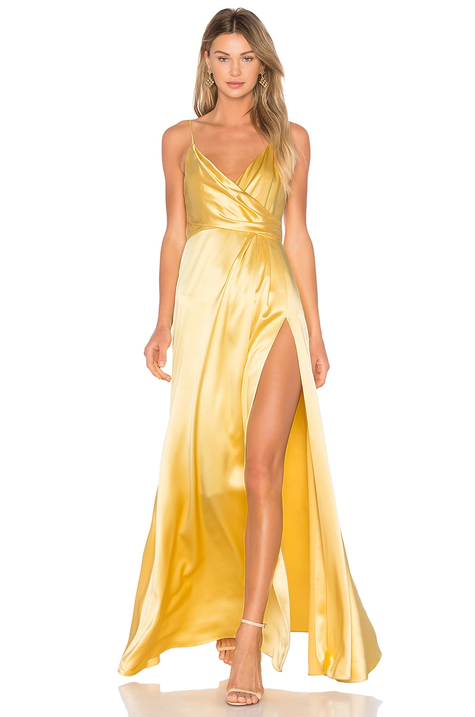 JILL JILL STUART Wrap Gown in Buttercup