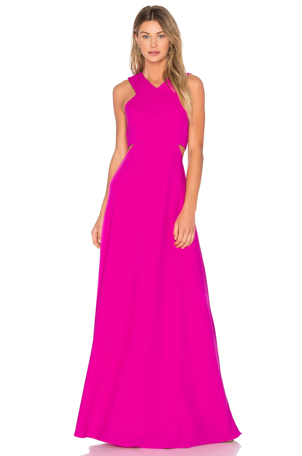 JILL JILL STUART Layered Gown in Fuchsia Rose