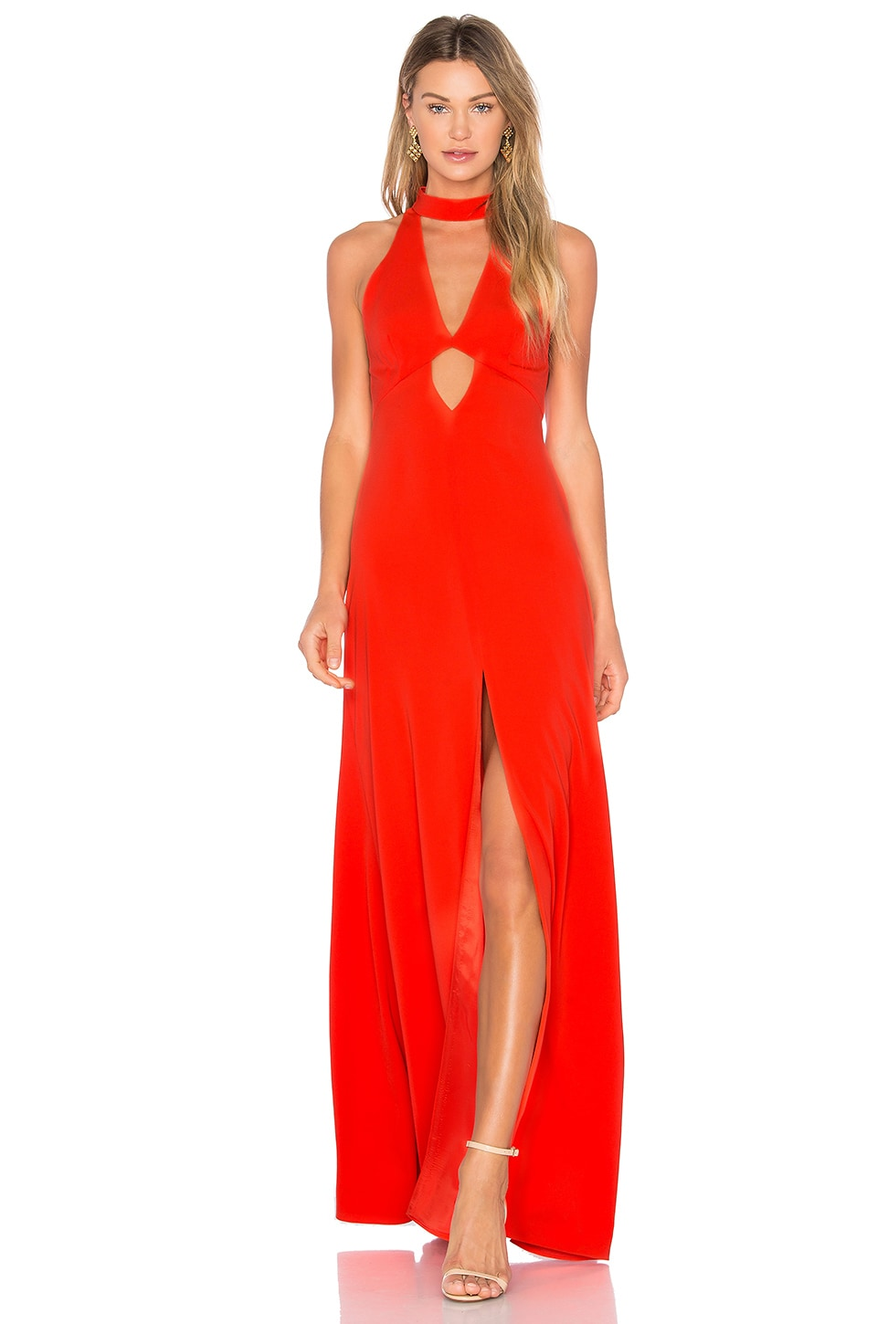 JILL JILL STUART High Neck Gown in Tangerine