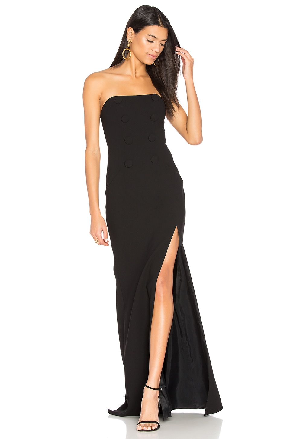 JILL JILL STUART Strapless Gown in Black
