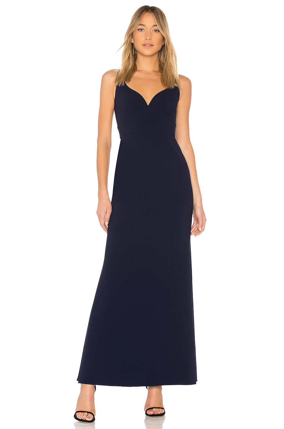 JILL JILL STUART Sweetheart Neck Gown in Midnight Blue