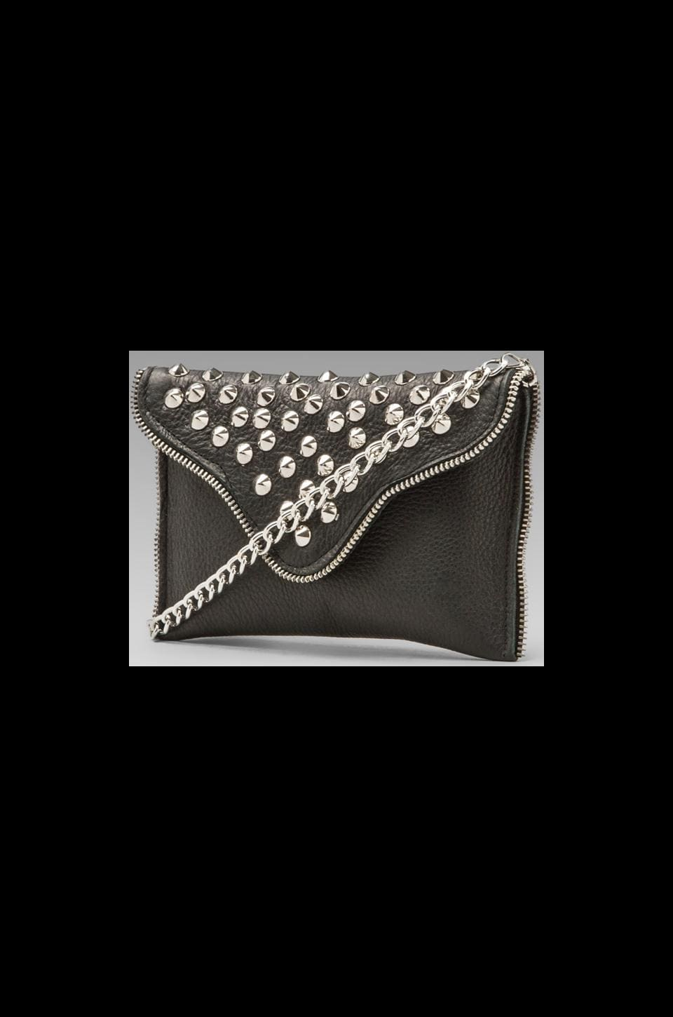 JJ Winters Silver Studs Handbag in Black