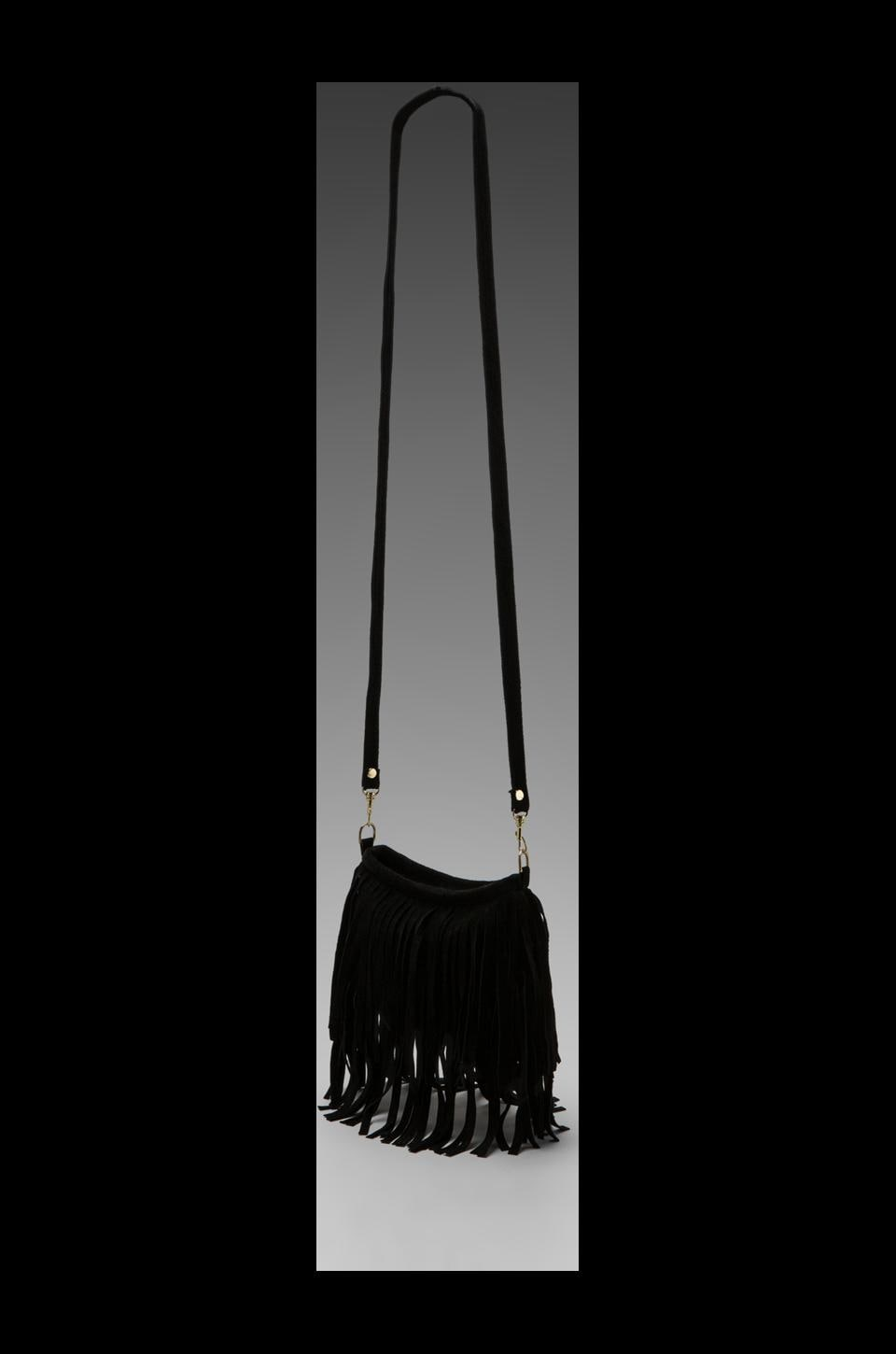 JJ Winters Small Fringe Bag in Black