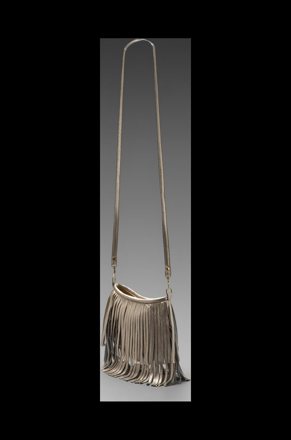 JJ Winters Small Fringe Bag in Platinum