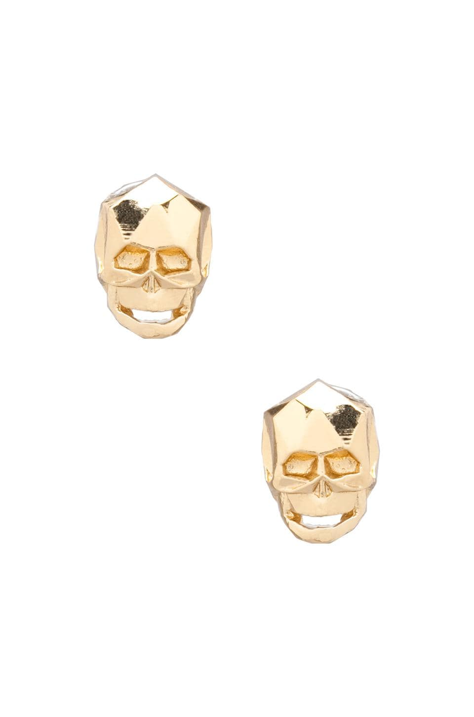 JOOMI LIM Skull Stud Earrings in Gold