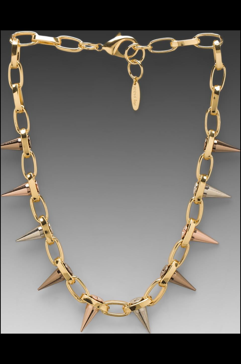 JOOMI LIM Single Row Spike Choker in Gold/Mixed Spikes
