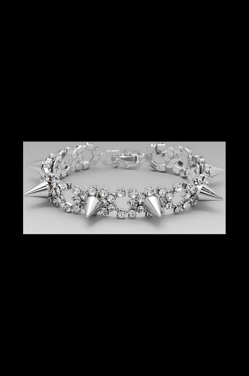 JOOMI LIM Crystal & Spike Bracelet in Crystal/Silver Spikes
