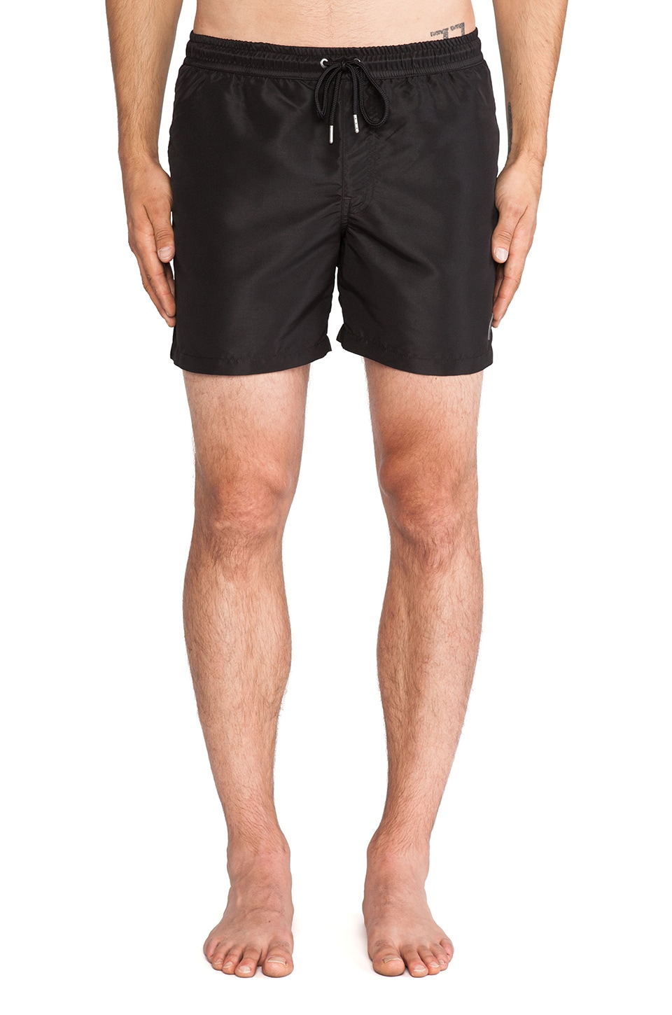 J. Lindeberg Banks 2.0 Solid Swim Shorts in Black