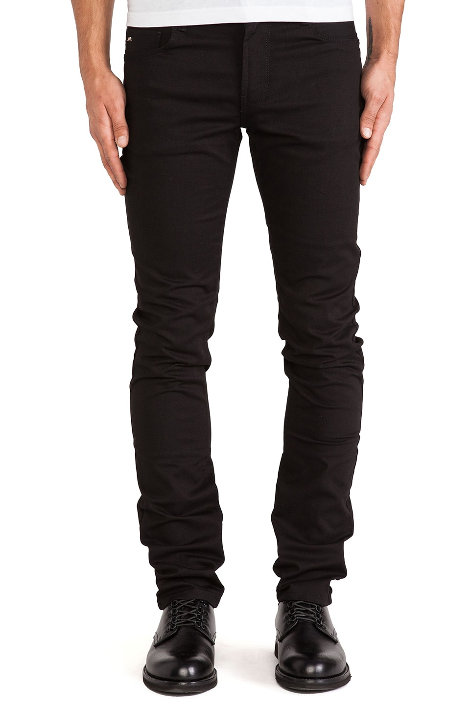 J. Lindeberg Damien Black Stretch Denim in Black