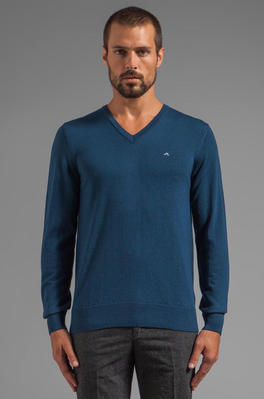 J. Lindeberg Lymann Sweater in Petrol Melange