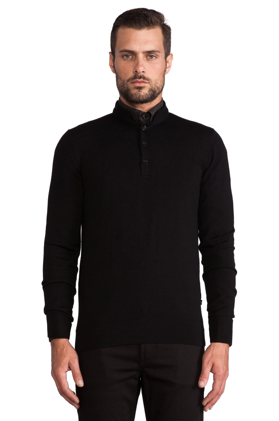 J. Lindeberg Henri Merino Knit in Black