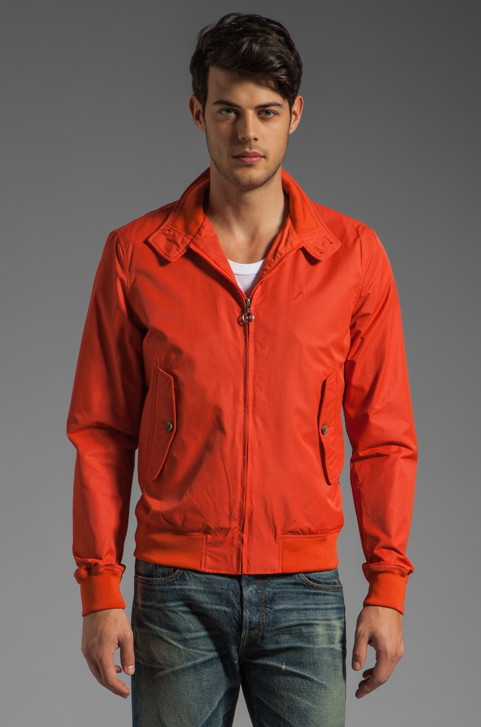 J. Lindeberg Travis Ultimate Copa Jacket in Red Coral