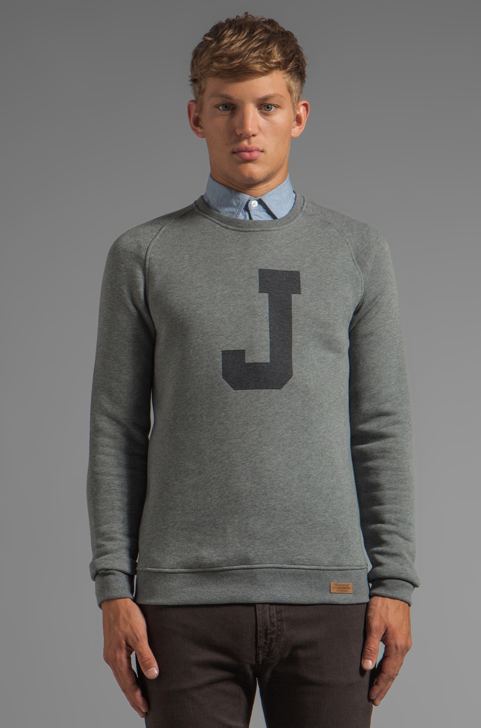 J. Lindeberg Chad Pullover in Light Grey Melange