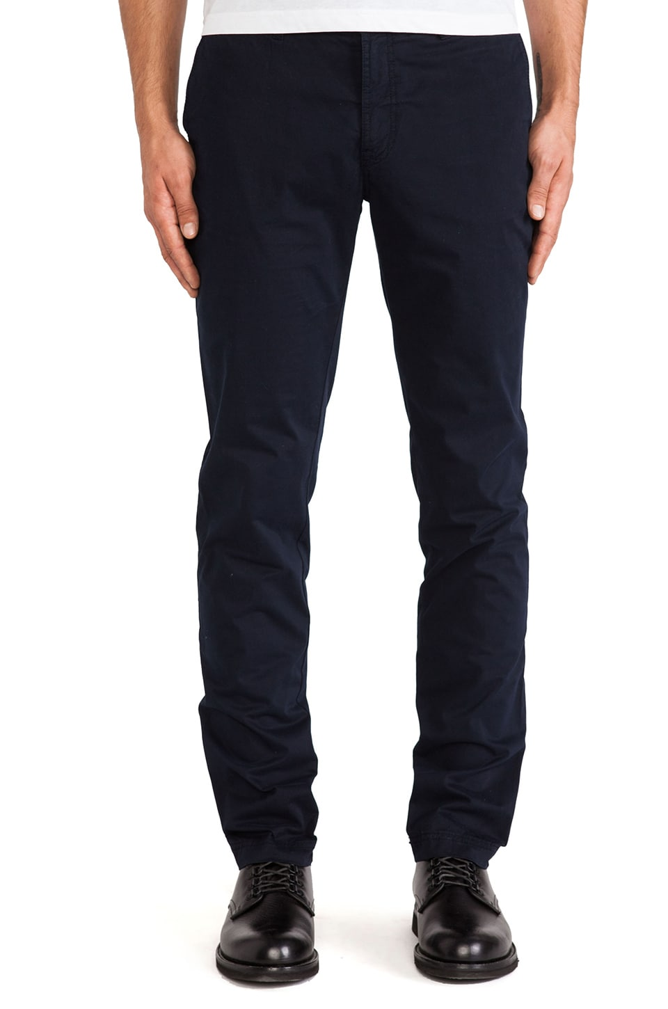 J. Lindeberg Chaze 46 Deco Super Satin Pant in Dark Navy