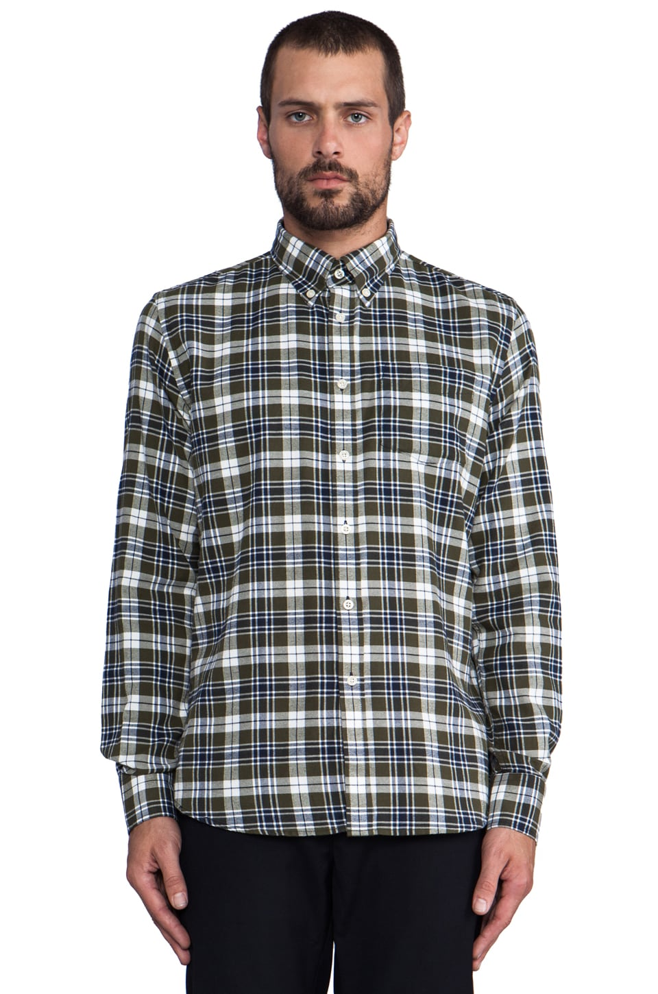 J. Lindeberg Ward Flannel in Dark Navy