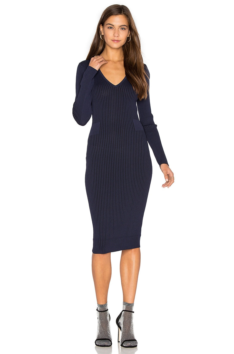 Faye V Neck Sweater Dress by John & Jenn by Line