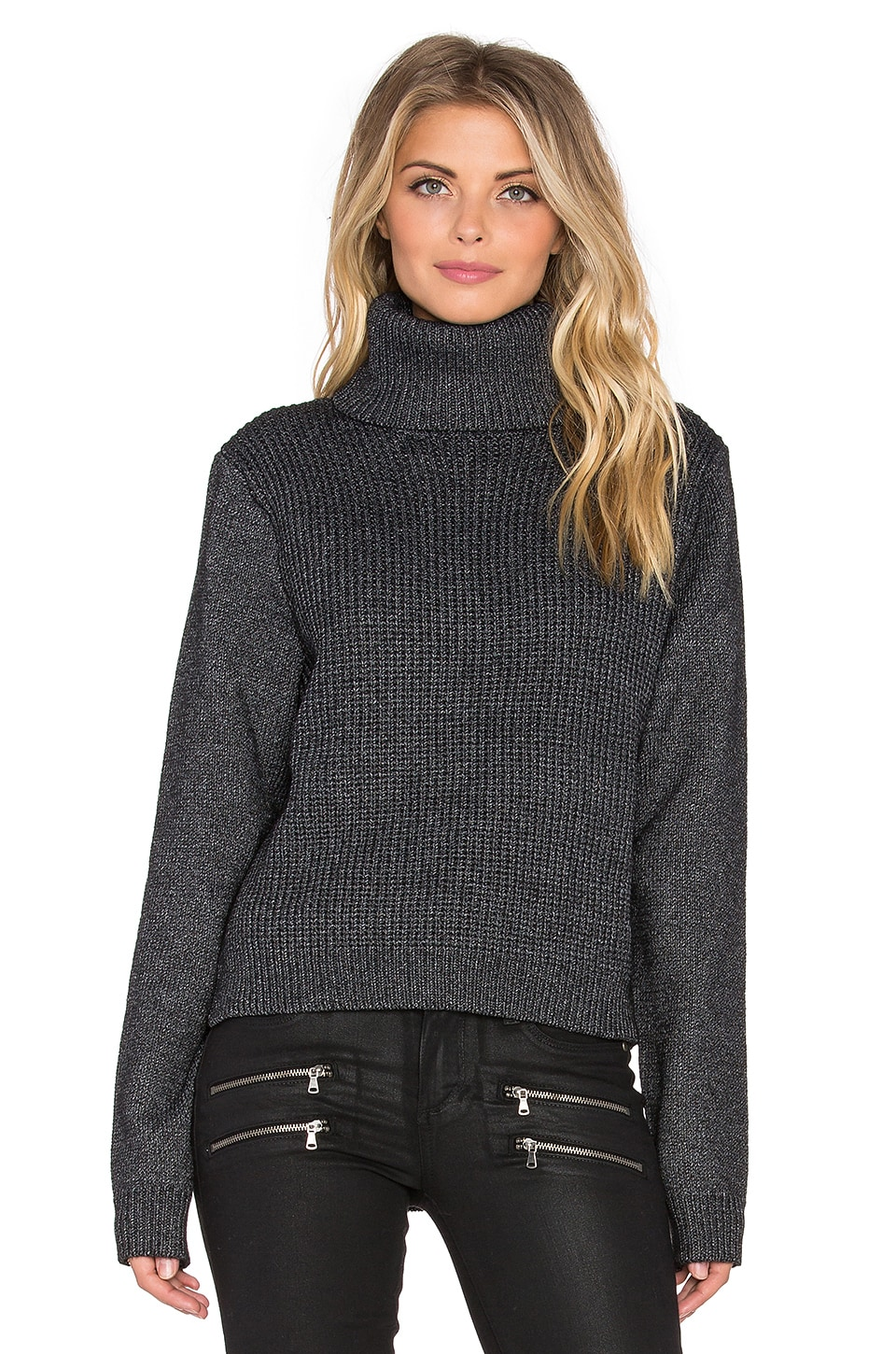 John & Jenn by Line Tevin Turtleneck Sweater in Caviar