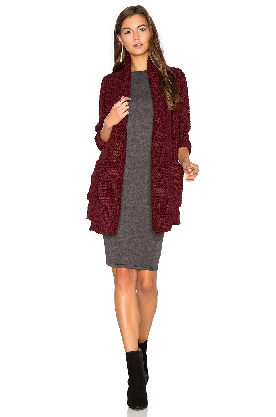 John & Jenn by Line Manon Cardigan in Scarlet