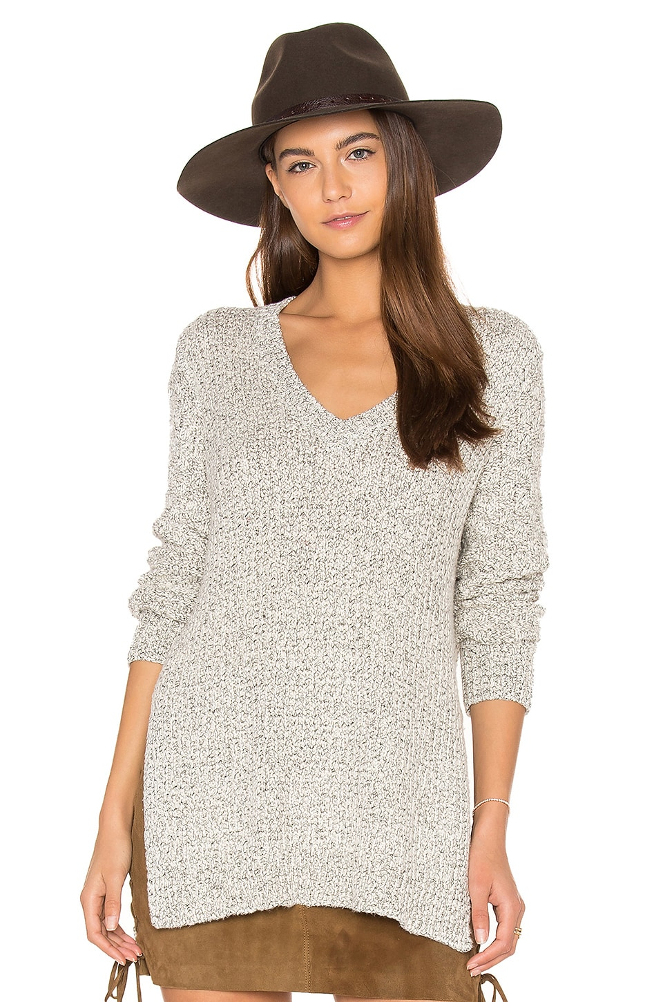 Zana V Neck Sweater by John & Jenn by Line