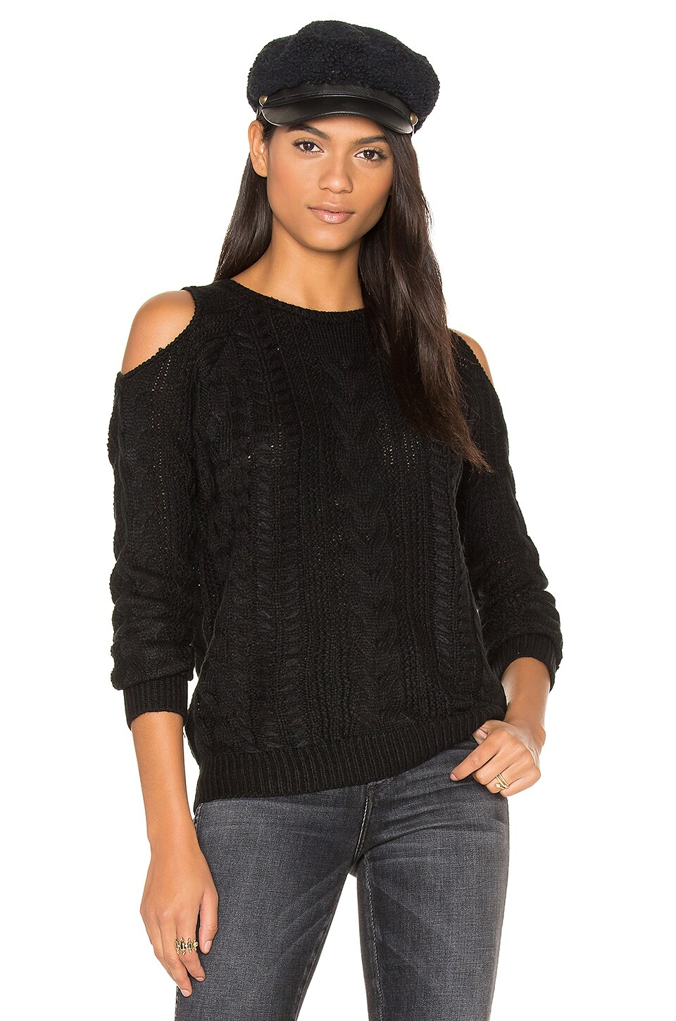 Lina Cold Shoulder Sweater by John & Jenn by Line