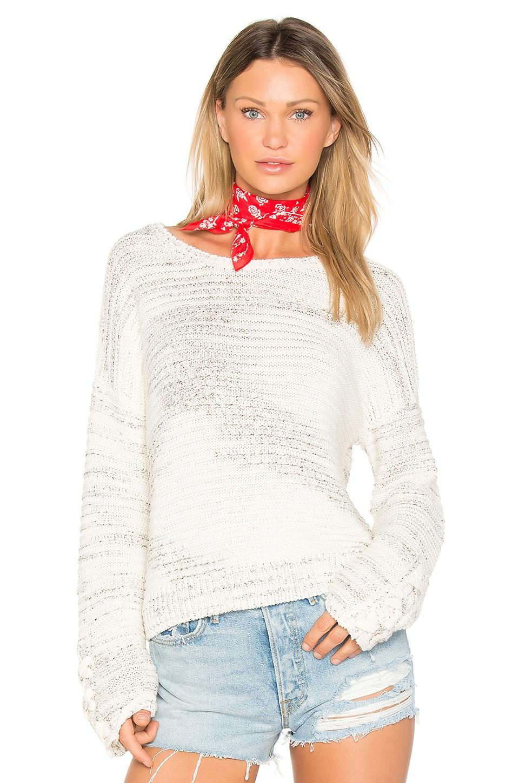 John & Jenn by Line Maya Bell Sleeve Sweater in Oyster