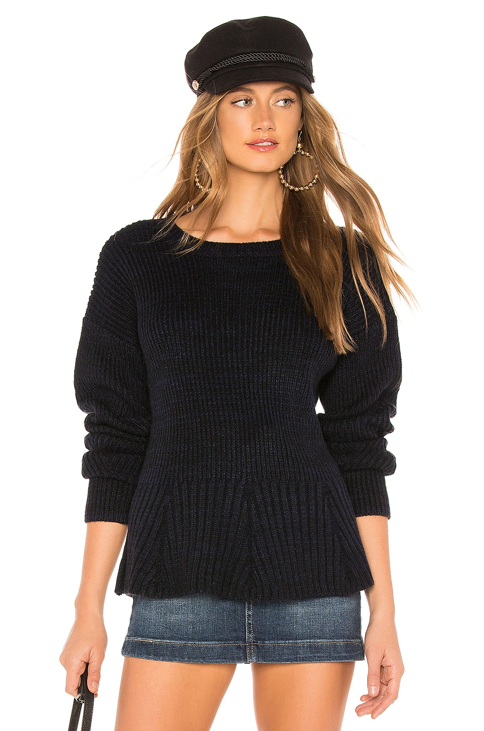 JOHN & JENN BY LINE Skylar Sweater in Navy