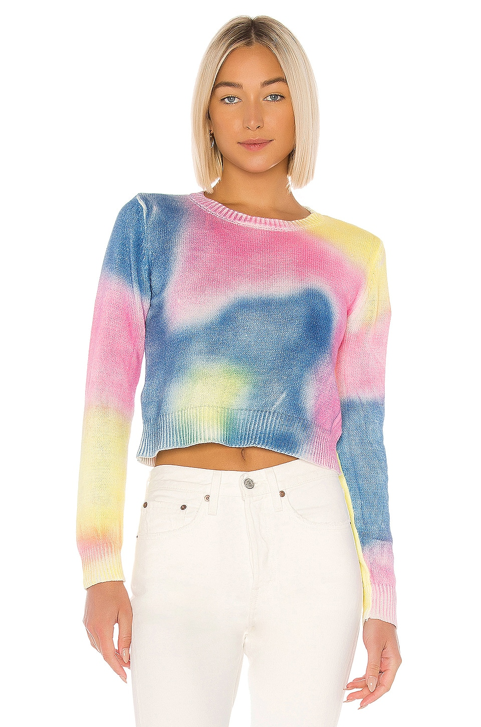 John & Jenn by Line X REVOLVE Crop Sweater in Multi Tie Dye
