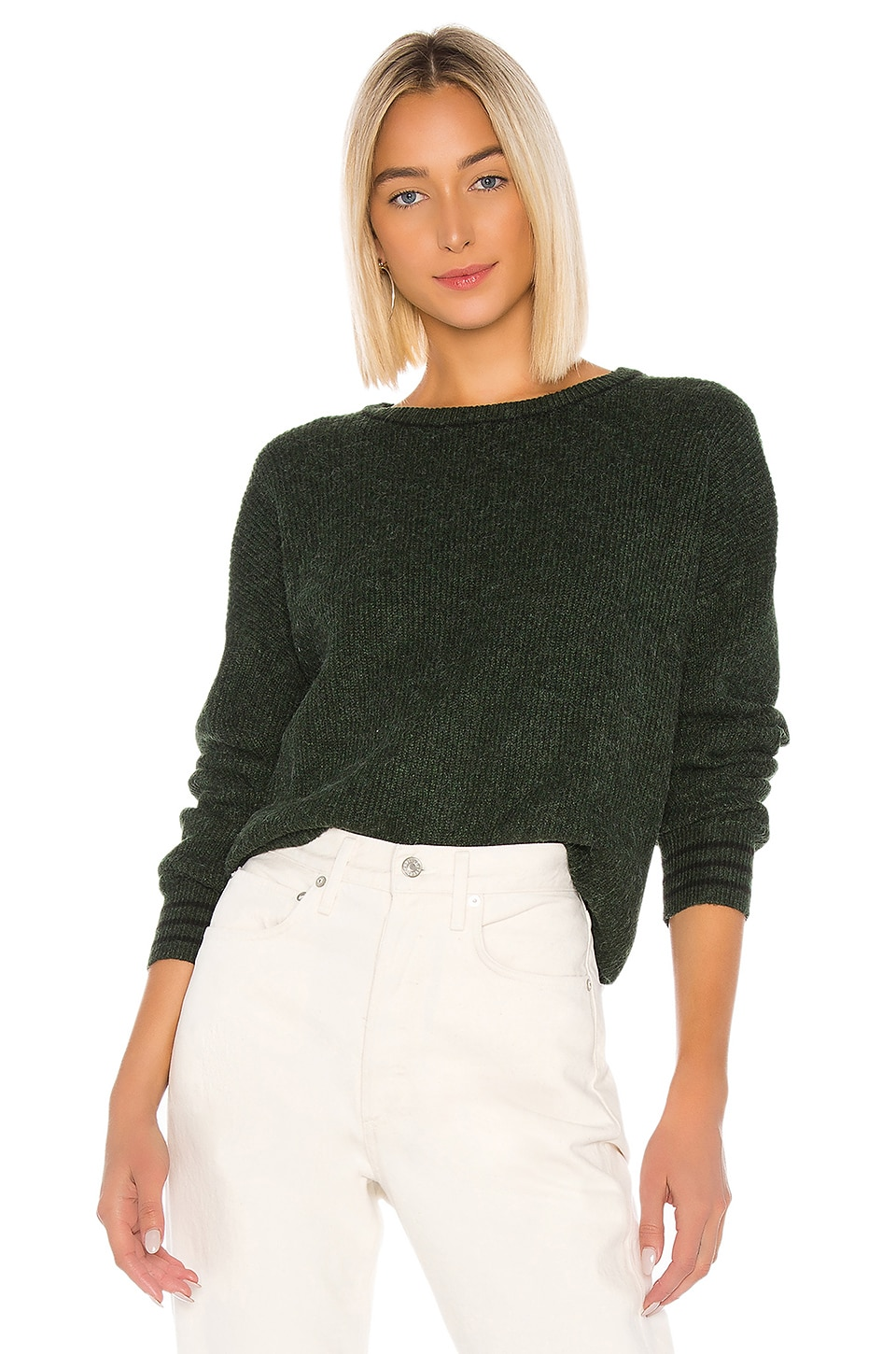 John & Jenn by Line Beckett Sweater in Pine