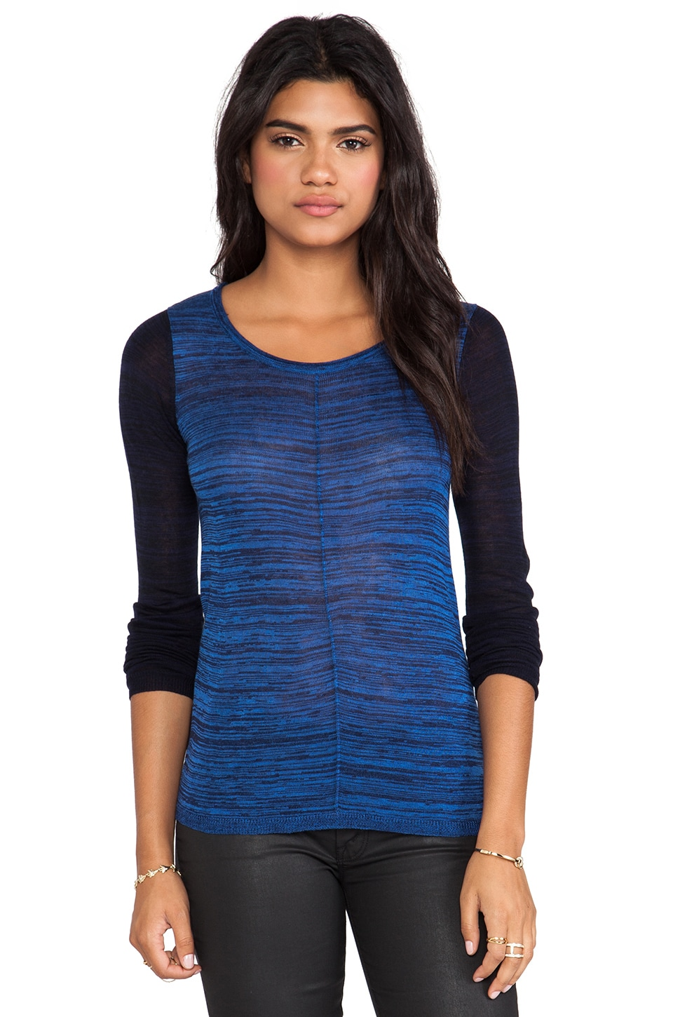 John & Jenn by Line Corie Colorblock Sweater in Colonize Blue