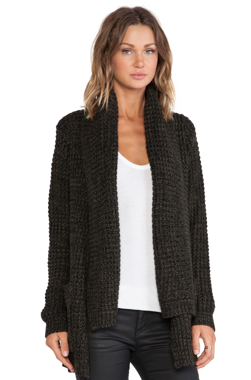 John & Jenn by Line Manon Cardigan in Dark Foliage