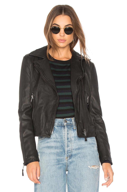 Nicholas Leather Moto Jacket by John & Jenn by Line