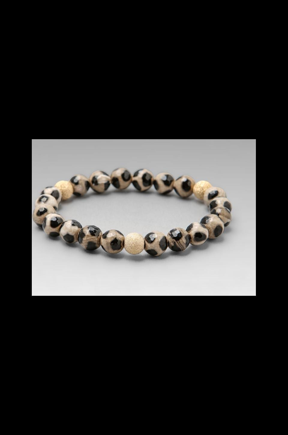 JNB Leopard Bracelet in Black/White