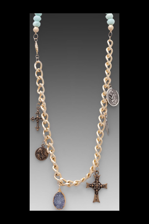 JNB Hana Charm Bracelet in Turquoise/Gold