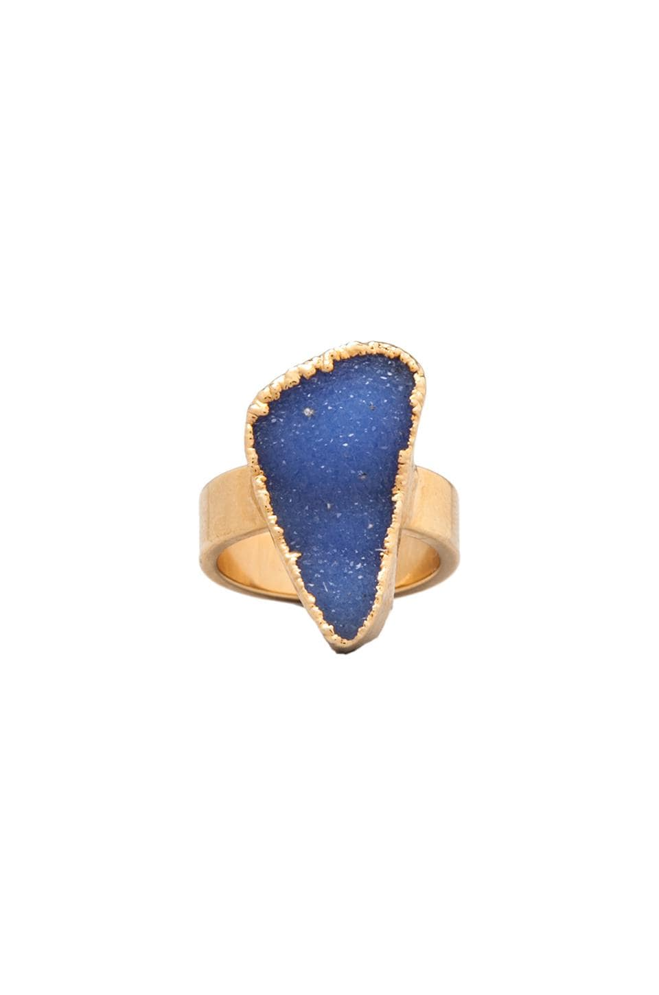 JNB Thick Giselle Ring in Purple/Gold
