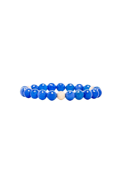 JNB Beaded Bracelet in Blue Quartz