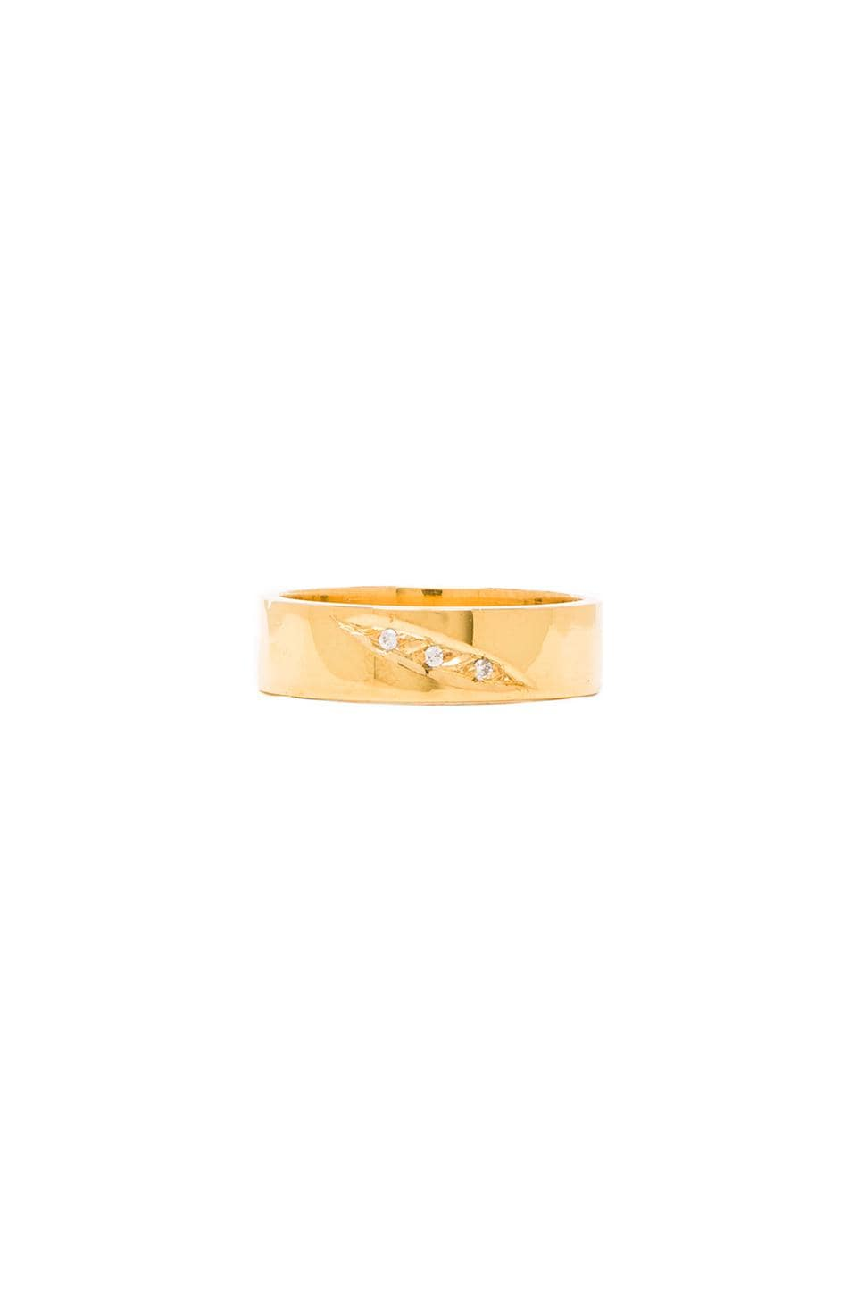JNB Midi Ring in Gold