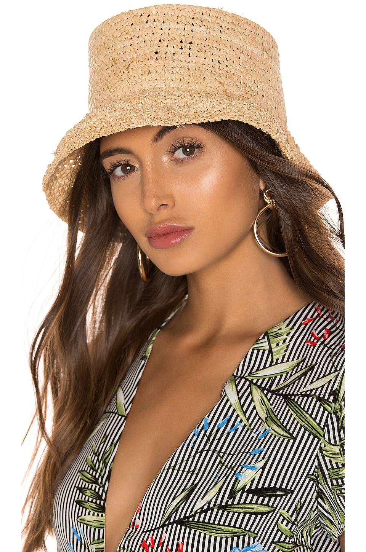 Janessa Leone Manon Bucket Hat in Natural