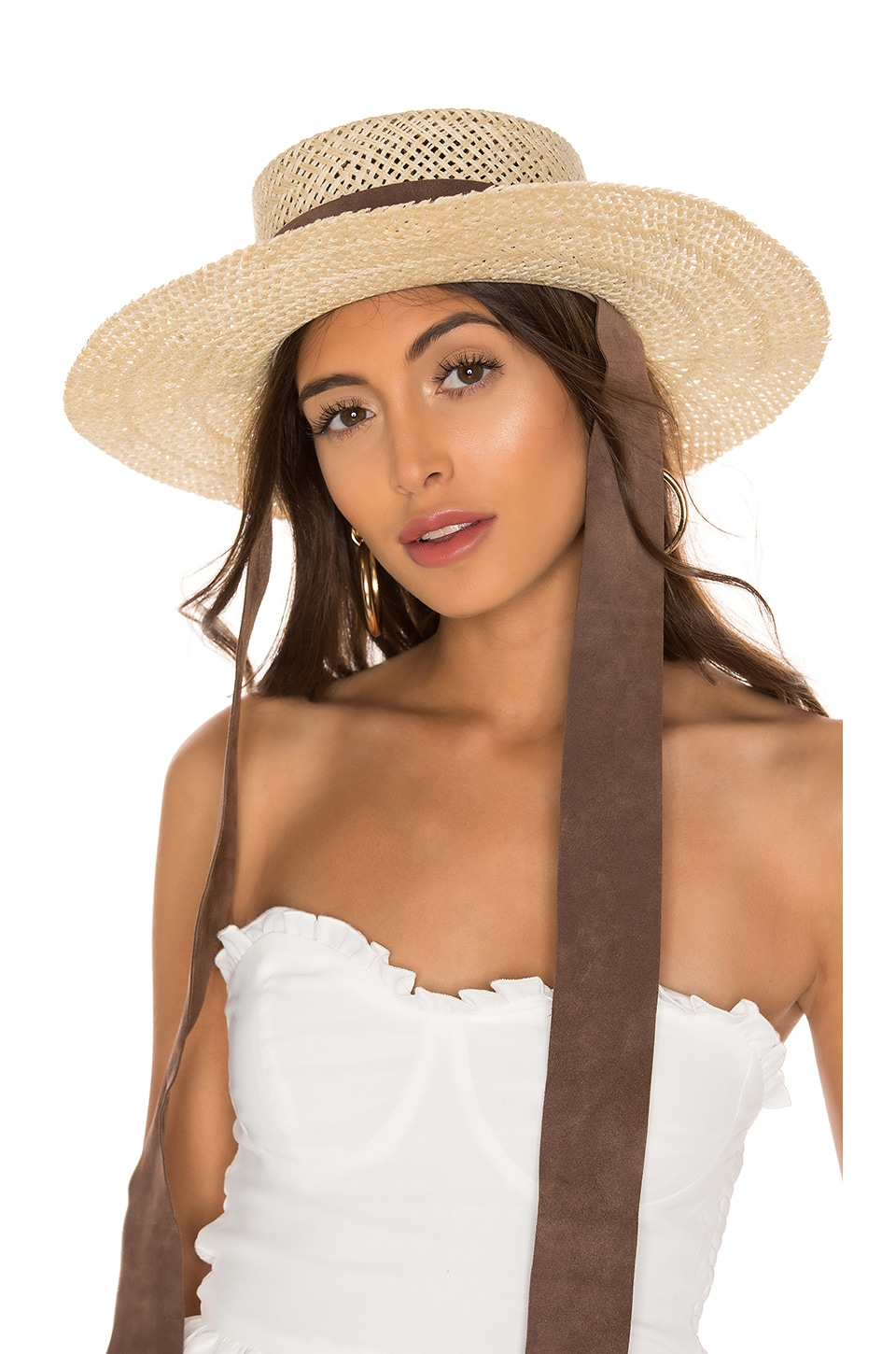 Janessa Leone Nina Boater Hat in Natural