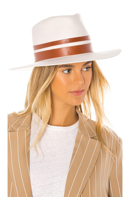 Janessa Leone Frankie Hat in Off White
