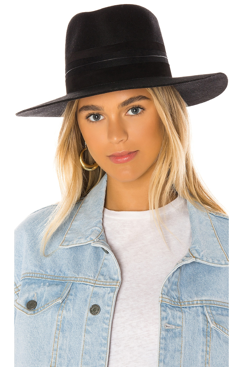 Janessa Leone Austin Hat in Black
