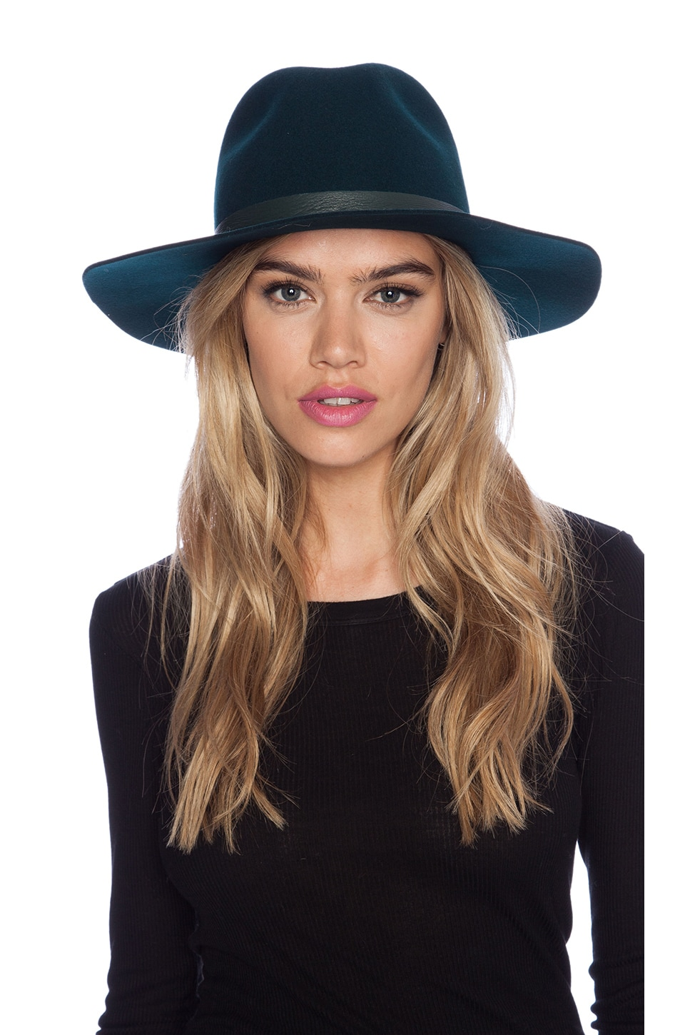 Janessa Leone Charles Hat in Forest Green