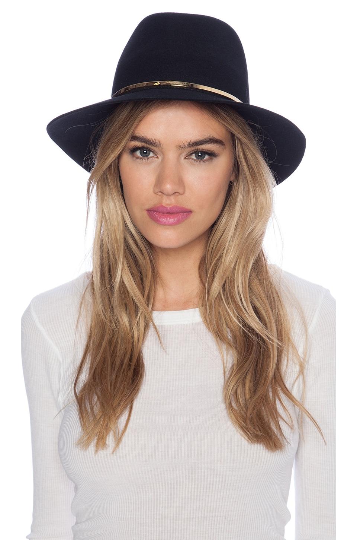 Janessa Leone Stephen Hat in Black