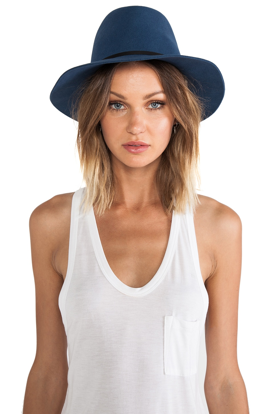 Janessa Leone Sara Hat in Smoke Blue